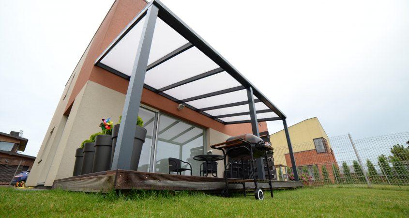 stogas terasai prie namo gardenis solar roof