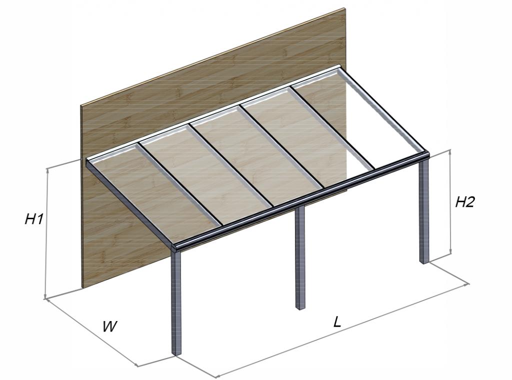 Stoginė terasai SOLAR ROOF GARDENIS modelis