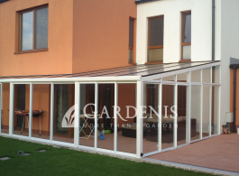 Stikline stogine veranda terasai – Gardenis