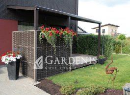 stogine-terasai ruda gardenis