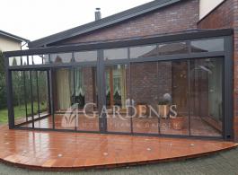 Stikline veranda pilka – Gardenis