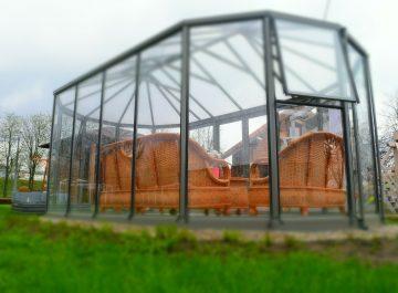 Stikline oranzerija Ovalia - Gardenis