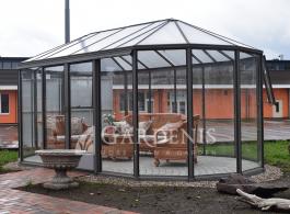 Stikline oranzerija Ovalia – Gardenis