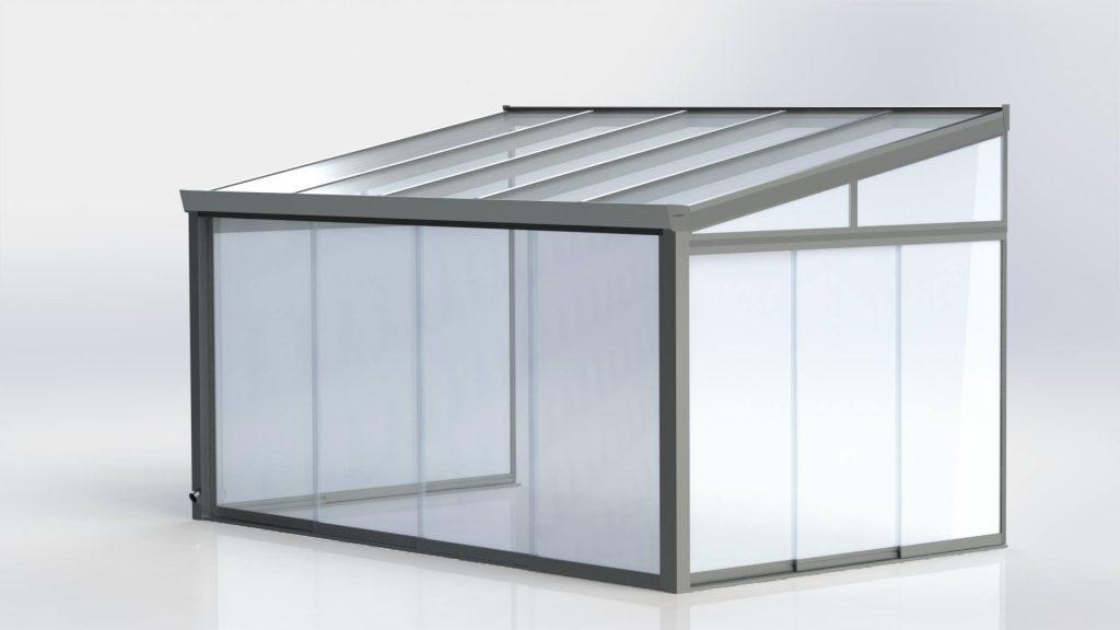 Verandos konstrukcjos modelis Gardenis