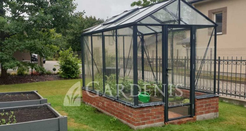 Siltnamis-ant-muro-pagrindo-VICTORIA-Gardenis-on-wall-greenhouse
