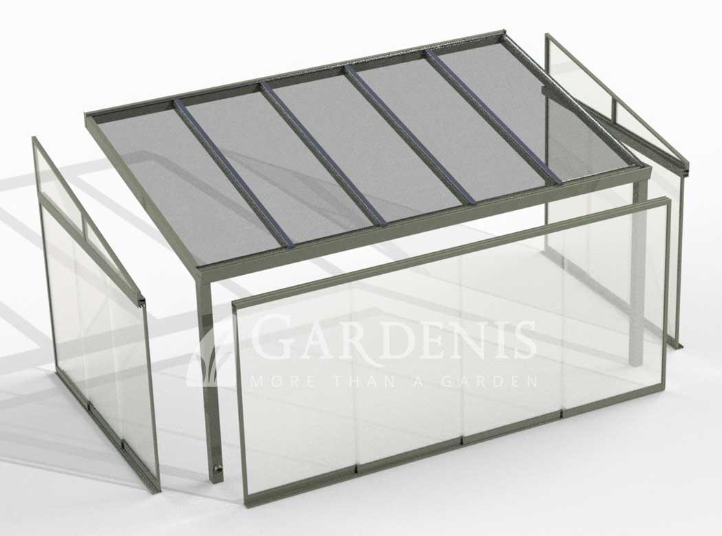 Stogines terasai stiklinimas GARDENIS