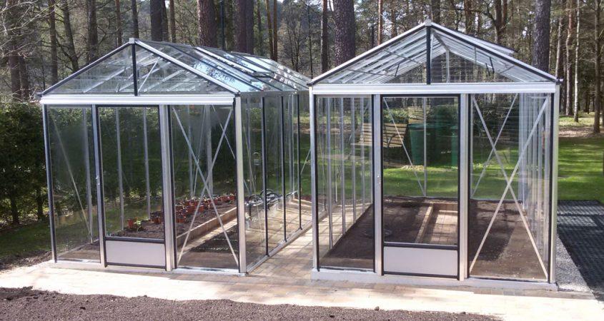 VENTUS siltnamisaliuminis stiklinis Gardenis