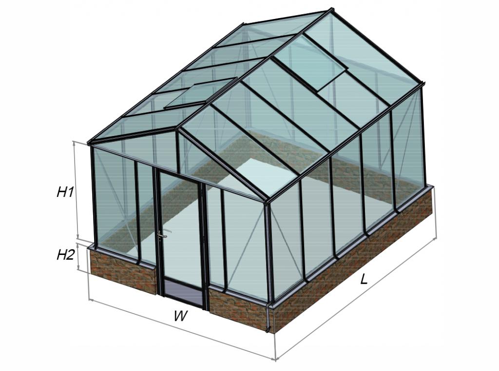 Ventus-on-wall siltnamio konstrukcijos modelis Gardenis