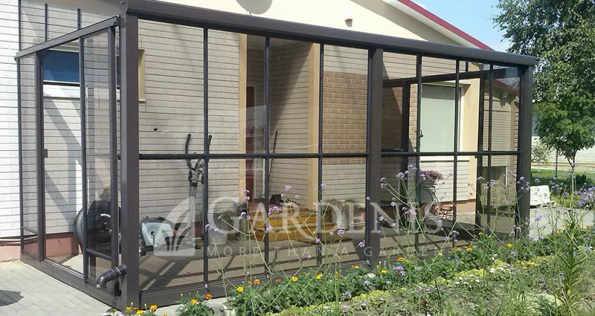 veranda gardenis priesienis siltnamis Murus
