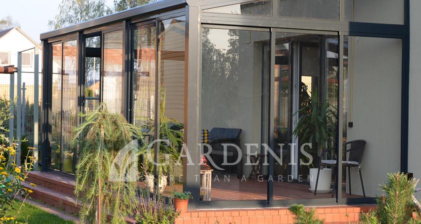 veranda-gardenis antracitas