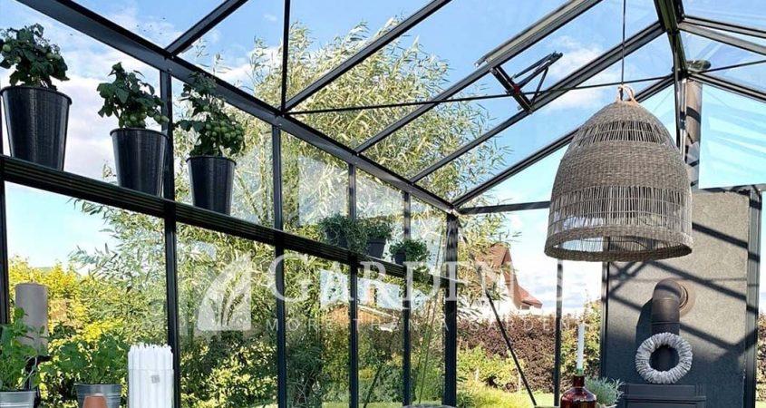 Greenhouse alu shelves gardenis
