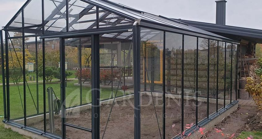 JUNA greenhouse glass RAL7016 siltnamis Gardenis