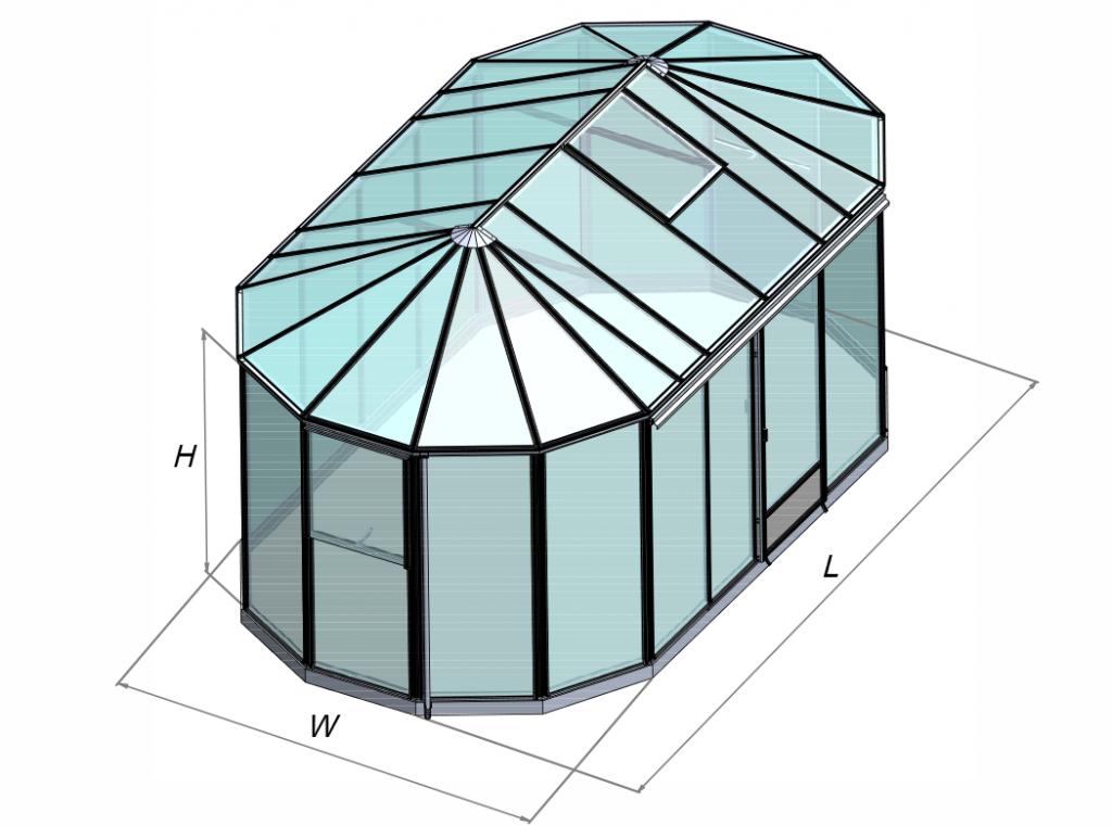 Ovalia išsiskiriančios formos šiltnamis oranžerija pavėsinė Ovalia Gardenis