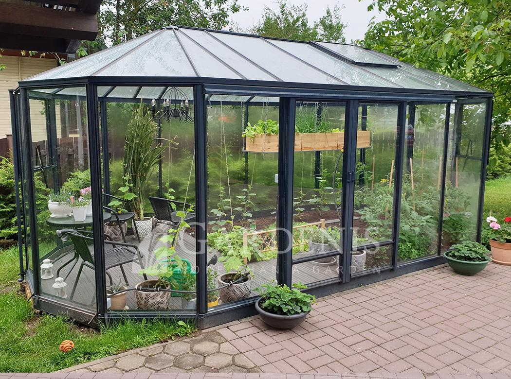 Picture of: Ovalia Greenhouse Drivhus Waxthus Glasshouse Siltnamis Siltumnica Orangery Altan Teplica Gardenis Gardenis
