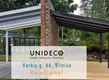 Gardenis stogines terasoms siltnamiai Vilniuje