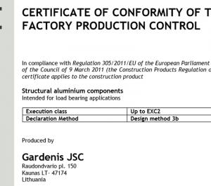 UAB GARDENIS kokybė CE