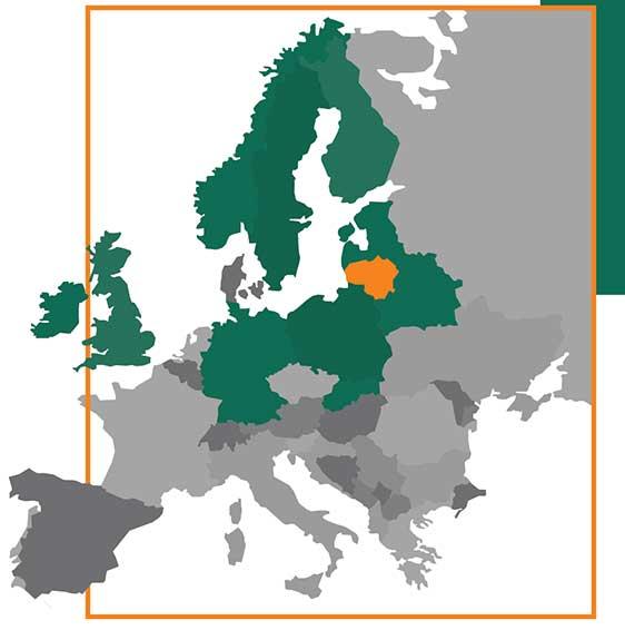 Gardenis pardavimu rinkos Europoje