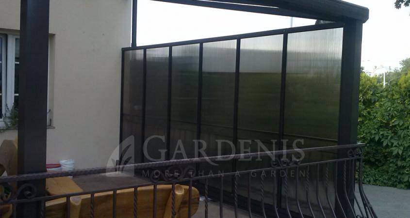 Sienelė-iš-polikarbonato-terasai-Gardenis-