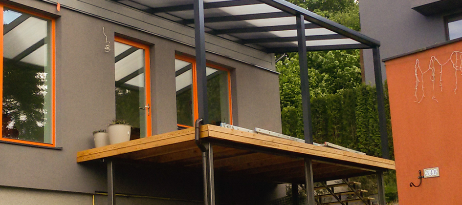 Stoginė balkono terasai ar kotedžams