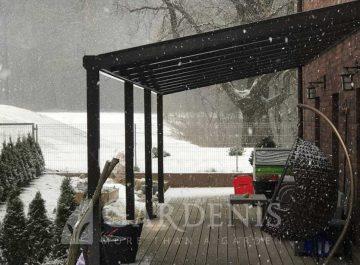 Pastoge terasai nuo sniego, vejo, lietaus Gardenis